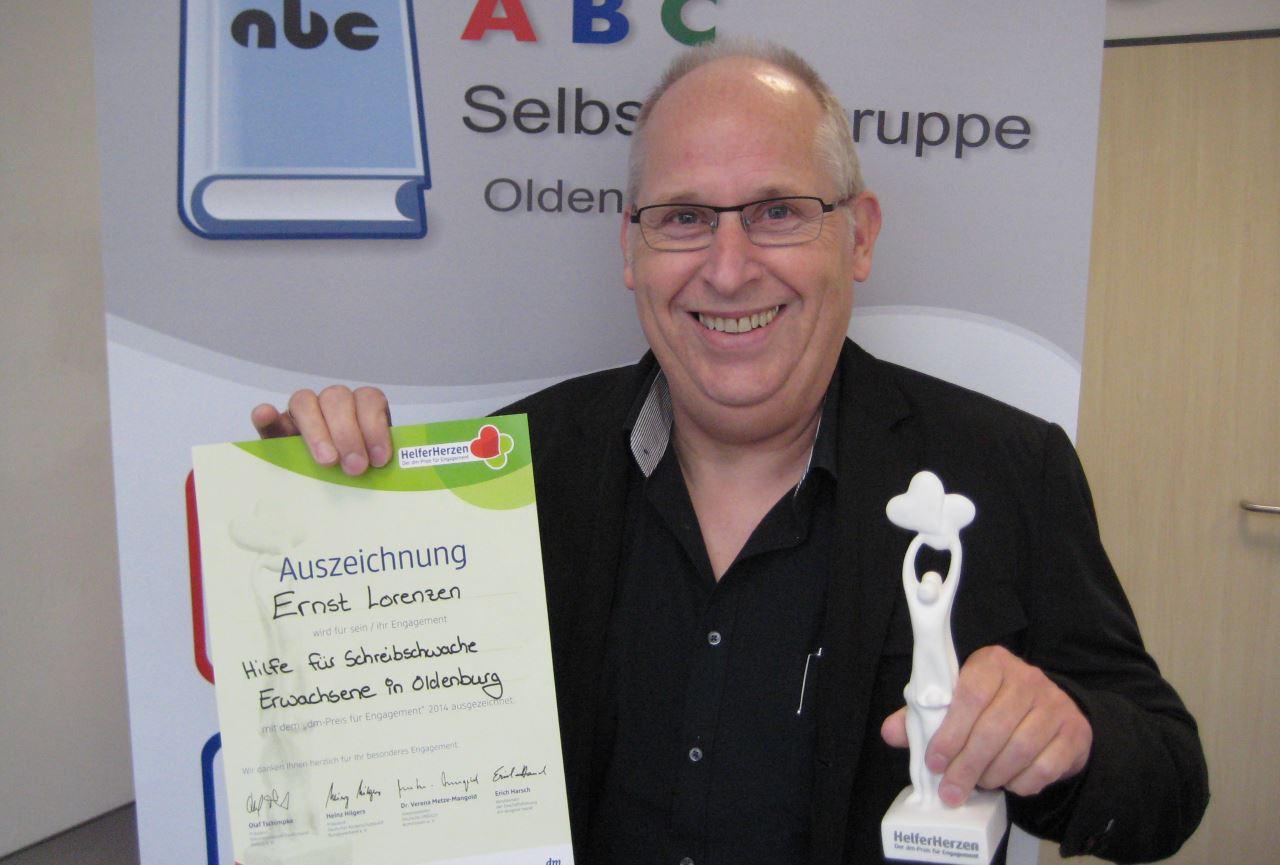 Preisträger Ernst Lorenzen, Foto: Achim Scholz