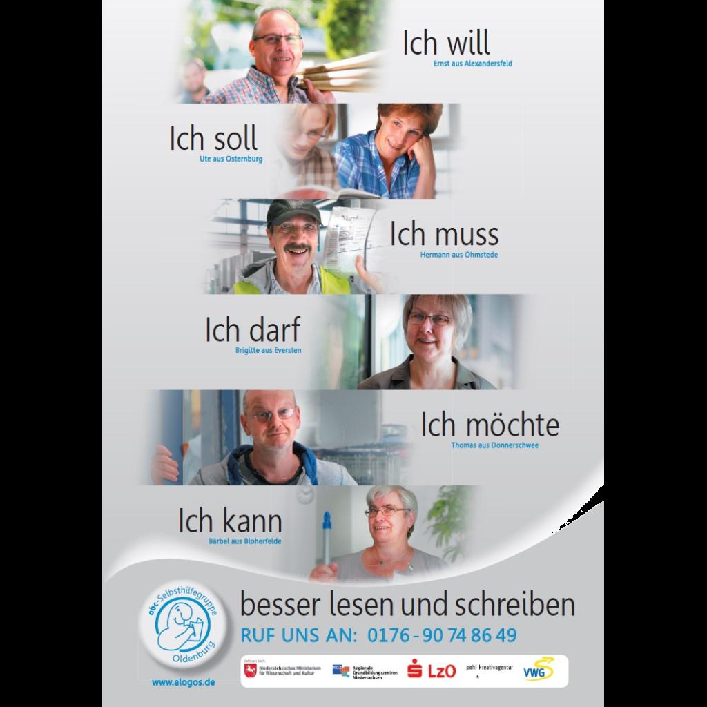 Plakataktion der ABC-Selbsthilfegruppe