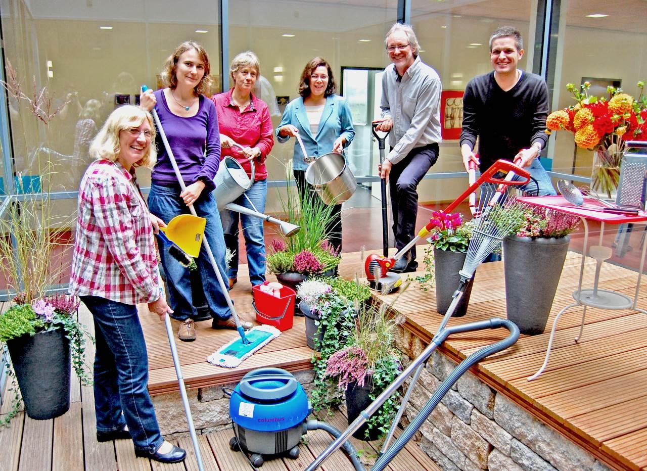 Kernteam abc+ von li.: Marion Greulich, Nadine Engel, Elke Kuhlmann, Andréa dos Santos, Achim Scholz, Jörg Neugebauer