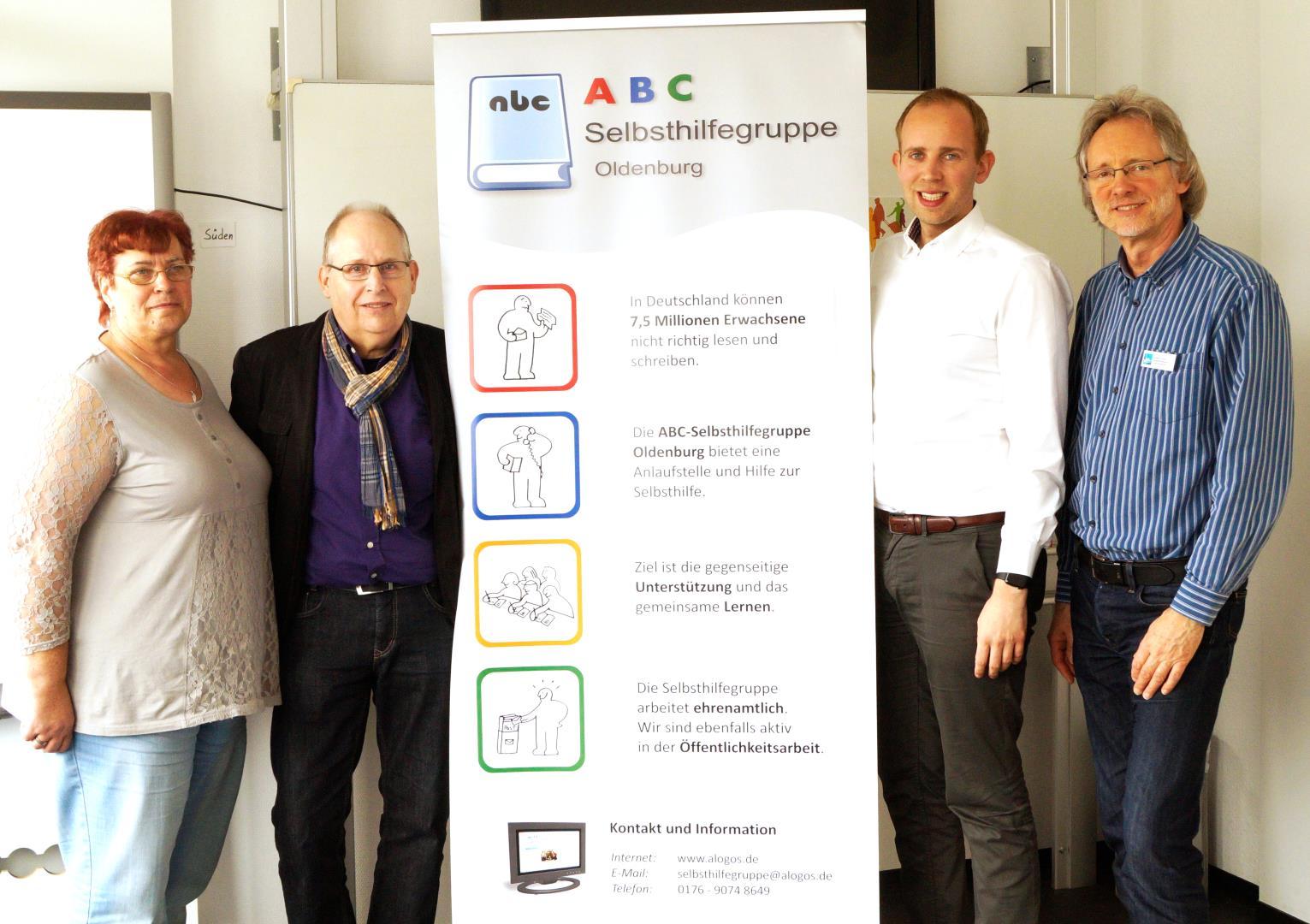 von li.: Bärbel Kitzing, Ernst Lorenzen, Dennis Rohde, Achim Scholz / Foto: Katharina Nordenbrock