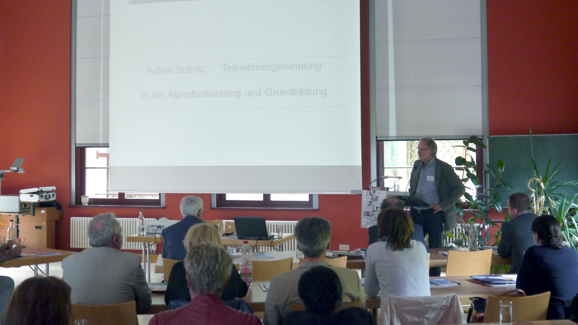 Achim Scholz referierte zu seinen Erfahrungen in der Teilnehmergewinnung.