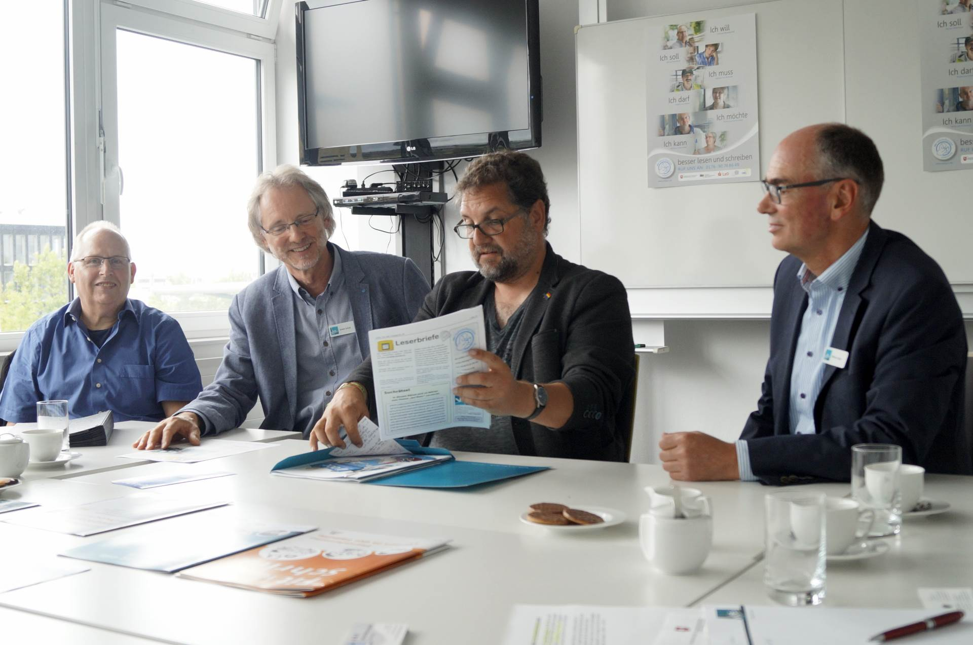 von li.: Ernst Lorenzen, Achim Scholz, Peter Meiwald, Andreas Gögel  / Foto: Lea Feline Müller