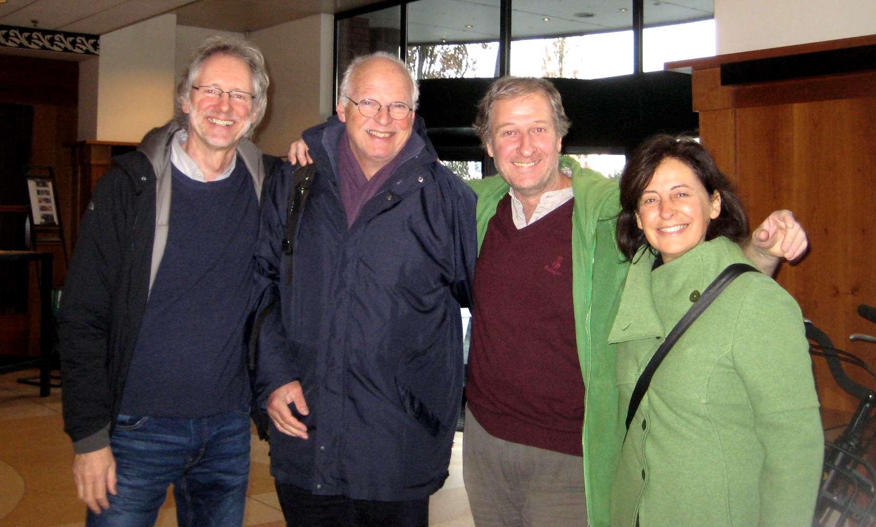 von li.: Achim Scholz, Kees Hammink (Holland), Urs Chiara (Graubünden), Christiana Cavalieri (Romandie)