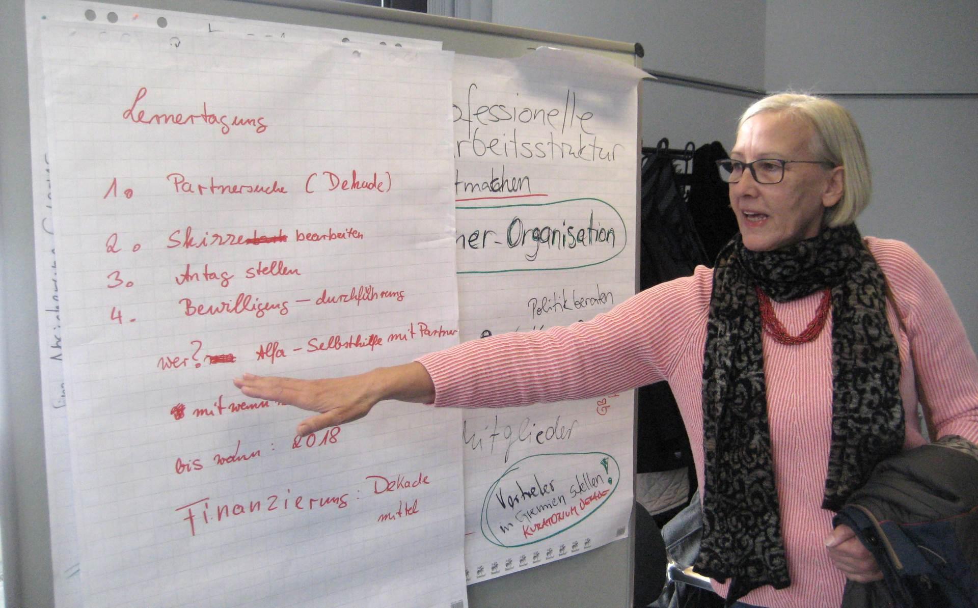 Jutta Stobbe erläutert das Ergebnis ihrer Arbeitsgruppe | Foto: Achim Scholz