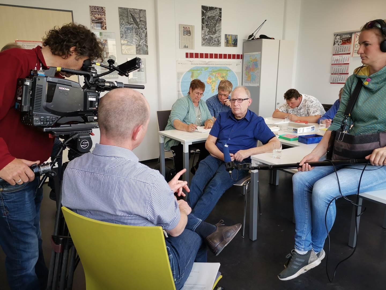 Im Vordergrund von li.: Christian Brakel, Peter Becker, Ernst Lorenzen, Laura Bechtold