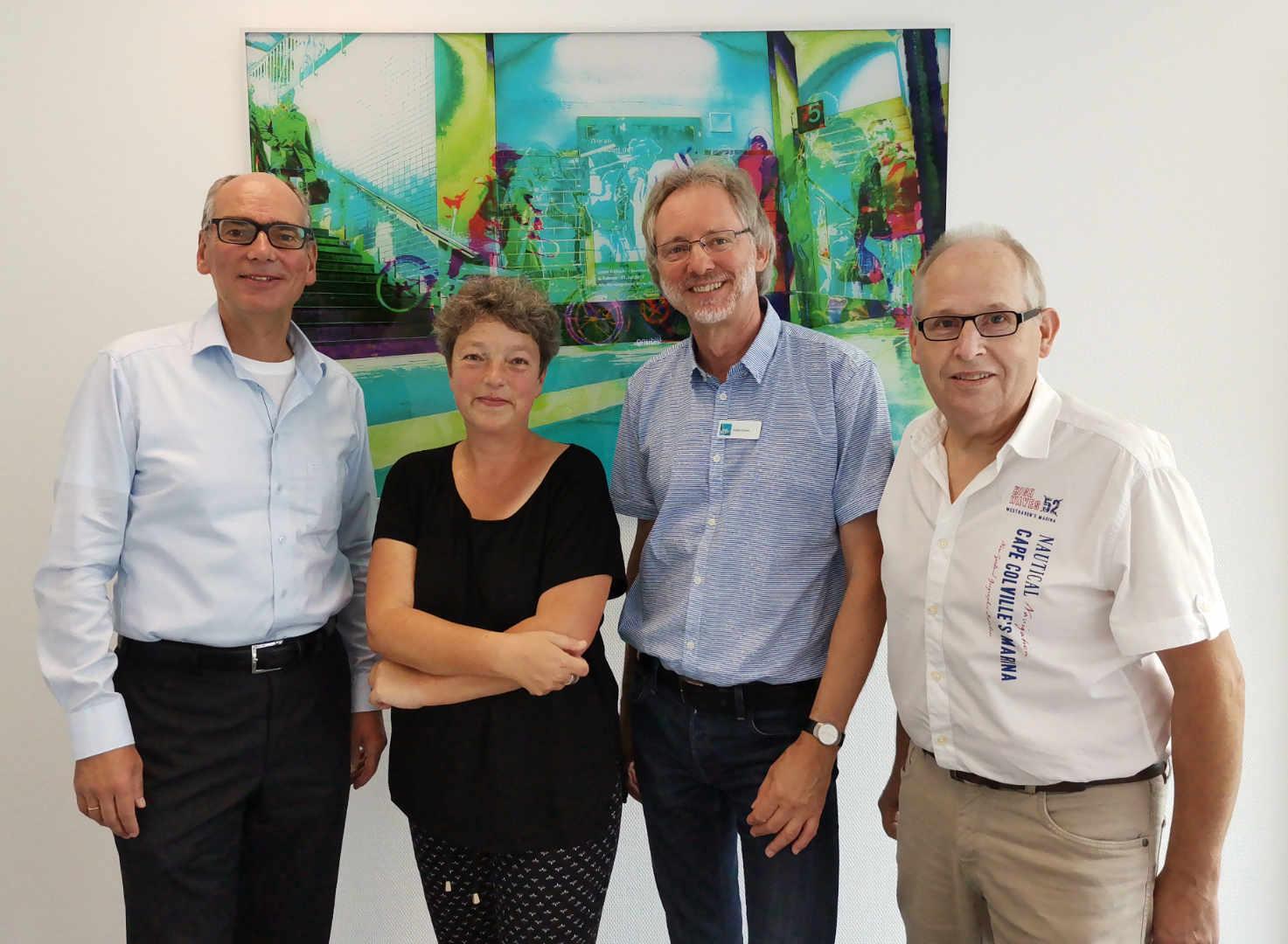 Von li.: Andreas Gögel, Hanna Naber, Achim Scholz, Ernst Lorenzen | Foto: Katharina Nordenbrock
