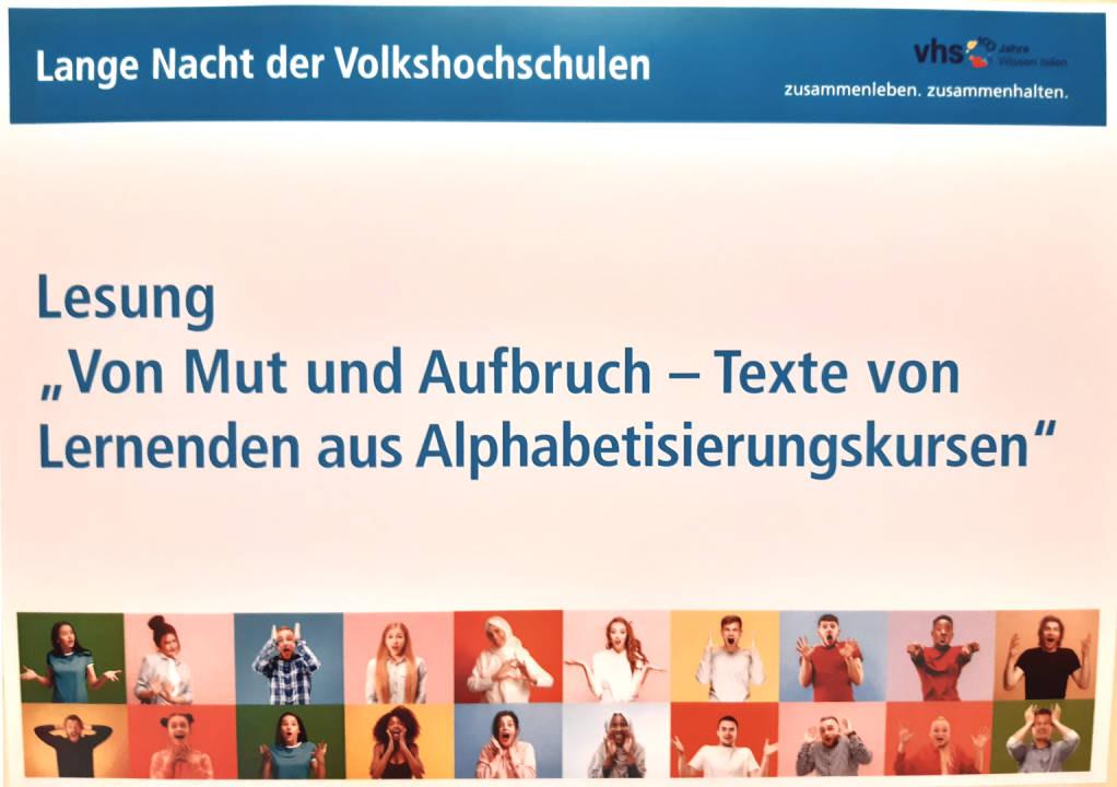 """Ankündigung der Lesung """"Von Mut und Aufbruch"""""""