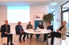 Von li.: Dr. Lutz Goertz, Dr. Klaus Buddeberg, Joachim Sucker, Ernst Lorenzen, Nadine Engel, Ernst Stimmer | Foto: Achim Scholz