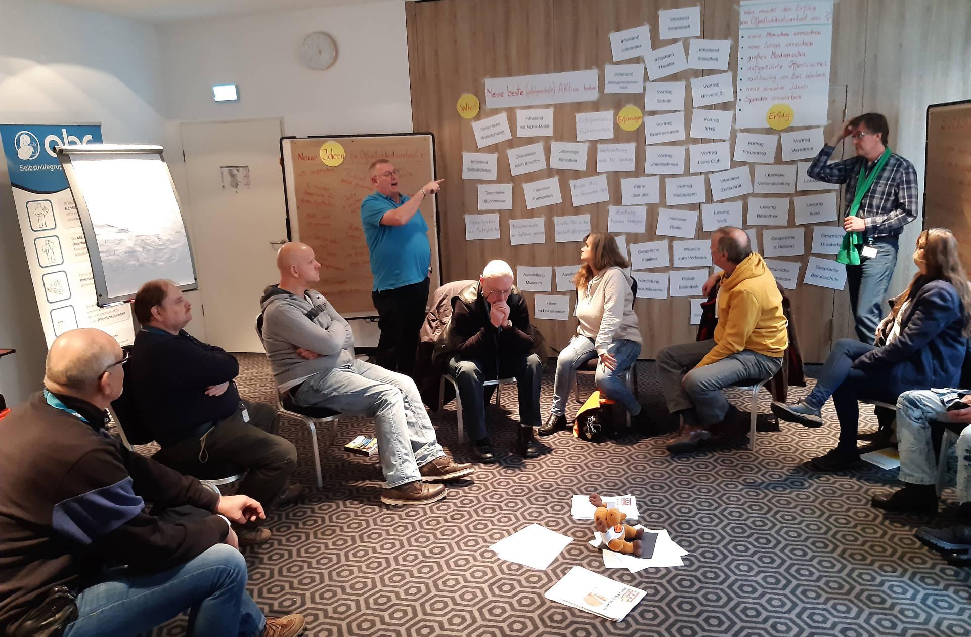 Präsentation der erarbeiteten Ergebnisse in den Workshop-Räumen
